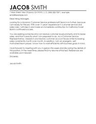 Resume Example Sample Cover Letter For Customer Service Resume