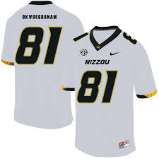 Missouri Tigers 81 Albert Okwuegbunam White Nike College