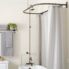 tub to shower faucet conversion kit. rim mount clawfoot tub shower kit - oil rubbed bronze · faucet detail to conversion