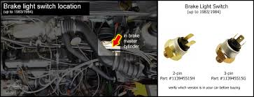electrical system on in brake master cylinder brake light switch