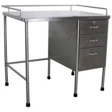vtg 1940 50s simmons furniture metal medical. Industrial Stainless-Steel Writing Desk Vintage Medical Vtg 1940 50s Simmons Furniture Metal T