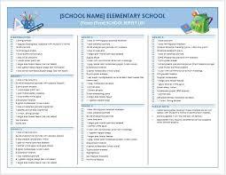 School Supplies List Template Pin On School Supplies Tips