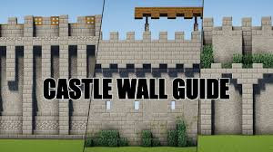 Minecraft Castle Designs Castle Wall Guide 5 Designs Minecraft Minecraft Castle