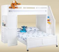 white bunk bed with stairs. Full Bunk Bed With Stairs White Design Idea White Bunk Bed With Stairs