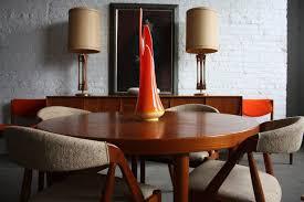 mid century modern dining room hutch. Dining Room, Mid Century Modern Room Hutch Red Fabric Tablecloth White Ceramic Poterey Fresh Ornamental
