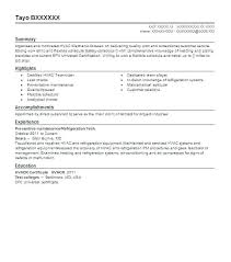 Hvac Resume Templates Technician Resume Examples Best And ...