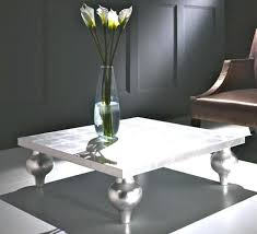 silver coffee table round nz