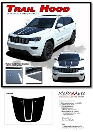 2019 Jeep Grand Cherokee Color Chart Trail Hood Jeep Grand Cherokee Trailhawk Hood Decal Stripe