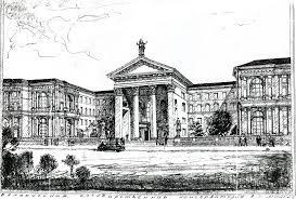 БГАМ Об академии Эскиз проекта первого здания консерватории 1954 год ул Интернациональная 30