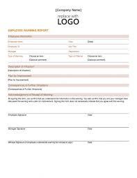 Employee Written Warning Template Business