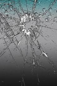 broken iphone water bubble screen