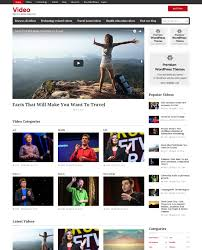 website template video wordpress video theme website template embedded upload
