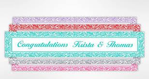 custom wedding, bridal shower & bachelorette party banners party Wedding Banner Custom shop now shop by color custom wedding banners custom wedding banner