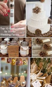 top 10 quirky ideas for winter wedding favors