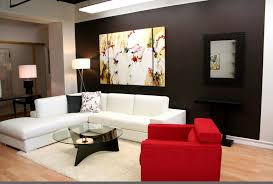 living furniture ideas. Modern Contemporary Decorating Living Room With Red And White Sofa Glass Coffee Table Flower Frame Ideas Furniture