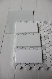 subway tiles tile site largest selection: benjamin moore wickham gray with subway tile amp hex floor tile yes yes and more yes plain white subway tile and hex tiles are my favorite bathroom look