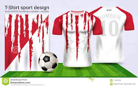 Soccer Camp Shirt Designs Soccer Jersey And T Shirt Sport Mockup Template Stock Vector
