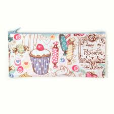 Cute Pencil Case Zipper Pouch French Cafe Ice Cream Candy Cakes Sweets -  You Choose.