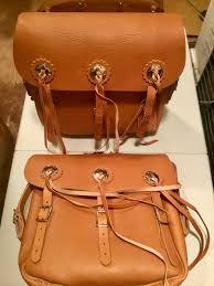 harley leather saddlebags w hd logo 193640s knucklehead ul vl wl rl brown