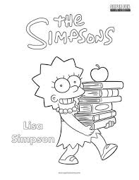 Lisa The Simpsons Coloring Page Super Fun Coloring