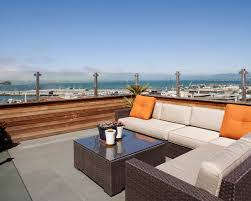 rooftop furniture. Furniture: Awesome View Russian Hill Roof Deck Modern Furniture Rooftop N