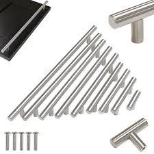 drawer pulls for kitchen cabinets stainless steel t bar modern kitchen cabinet door handles