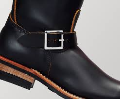 the original engineer boots were designed to protect the feet of men who fed coals into steam engines it melded the tall pull on style of horse riding