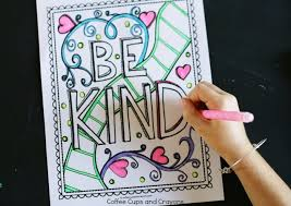 Get Kids Excited About Doing Good With A Kindness Coloring Page