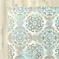 teal gray rug gold and
