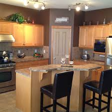 Small Picture Maple kitchen cabinets and wall color kitchen remodel idea For