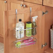 Over The Cabinet Basket Axis Chrome Over Cabinet Storage Basket And Tray In Cabinet Door