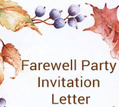 Farewell Party Invitation Letter Sample Sample Farewell Pa Flickr