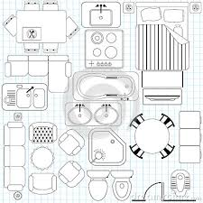 Printable Furniture Templates 14 Inch Scale  Build Credentials Furniture Icons For Floor Plans