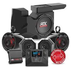 sound system with subwoofer. rzrsystem3 four speaker, dual amplifier, and single subwoofer polaris rzr audio system sound with u