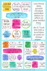 Positive Affirmations For Kids Printable Growth Mindset Notes