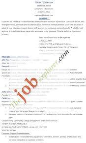 Installer Resume Samples Velvet Jobs Example Sample Cctv