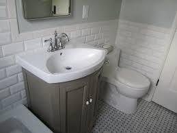 white ceramic tile floor. Subway Tile Small Bathroom Lovely Dark Floor From White Ceramic To Renovating