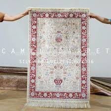 white oriental rug white oriental rug loom art hand knotted silk on silk carpet blue