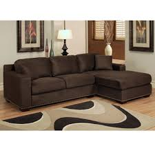 brown chaise sofa. Plain Brown Stylish Microfiber Sectional Sofa With Chaise And Abson Living Monrovia  In Dark Brown T