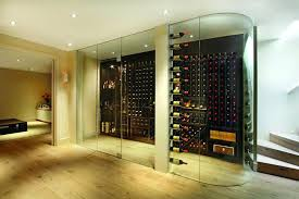 stylish wine cellar glass doors uk