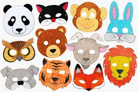 You can edit any of drawings via our online image editor before downloading. Printable Animal Masks Kids Crafts Fun Craft Ideas Firstpalette Com
