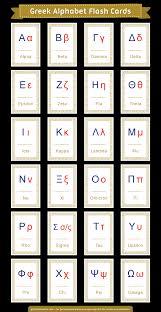 Free Alphabet Flash Cards Printable Greek Alphabet Flash Cards