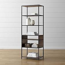 Image Chrome Wall Mounted Knox Tall Open Bookcase Crate And Barrel Bookcases Wood Metal And Glass Crate And Barrel