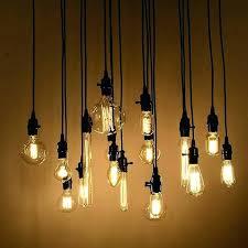 edison light bulb chandelier fascinating light bulbs classic retro edison light bulb chandelier diy