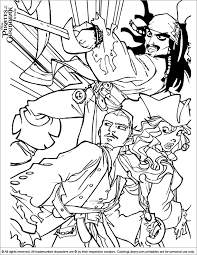 Small Picture Pirates of the Caribbean Coloring Picture