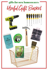 Captivating Gifts For Homeowners   Gift Basket Filled With Useful Home Items.