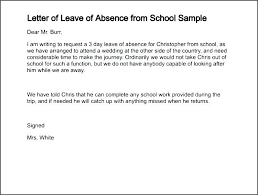 absence from school letter absence letter school attendance letter template absence excuse