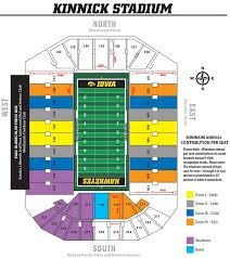 Kinnick Stadium Map From Hawkeyesports 5 Nicerthannew