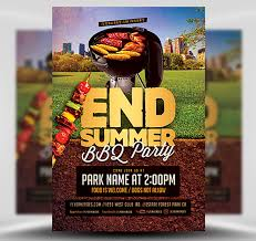End Of Summer Bbq Party Flyer Template Flyerheroes