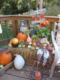 decorations one of a kind thanksgiving fall harvest round hay bale rhcom outdoor decorations style u